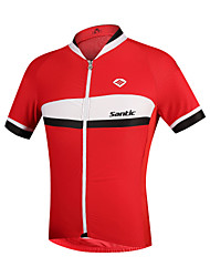 SANTIC® Cycling Jersey Men's Short Sleeve Breathable / Ultraviolet Resistant / Comfortable Bike Tops Polyester British / PatchworkSpring