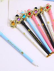 Crown Black Ink Gel Pen Set 12 PCS