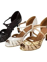 Customizable Women's Llatin Dance Shoes Sparkling Glitter Salsa Sandals Heels Customized Black/White/Gold