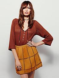 Damen Röcke - Niedlich Übers Knie Andere Mikro-elastisch