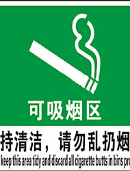 Smoking Fire Safety Logo Plastic Sheeting Smoking Smoking Area Fire Warning Signs Warning Signs