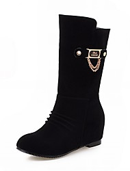 Feminino-Botas-Saltos / Botas de Cowboy / Botas de Neve / Botas Cano Curto / Arrendondado / Botas Montaria / Botas da Moda / Botas de
