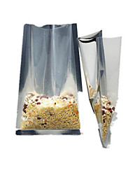 Trilateral Closure Of High-End Flat Translucent Vacuum Food Packaging-Size Pocket A Pack Of Ten 16 * 24