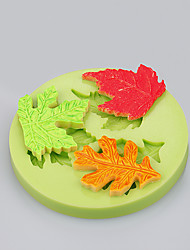 3Cavit maple leaf silicone fondant mold for chocolate candy soap clay resin craft Color Random