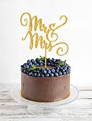 Украшения для торта Персонализированные не Монограмма Акрил Свадьба Цветы Черный Классика 1 Подарочная коробка