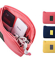1 PC Passport Holder & ID Holder Earphone Holder / Cable Winder Waterproof Dust Proof Portable for Travel Storage Oxford Cloth-Yellow