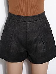 Damen Hose - Einfach Kurze Hose Wolle / Baumwolle Unelastisch