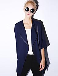 novo antes simples trincheira casuais camisa coatsolid manga de comprimento colar / diária das mulheres
