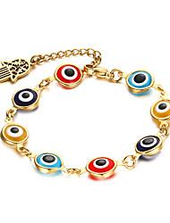 Eyes 18K Gold Bracelet Fashion Marriage Jewelry Gift Boxes