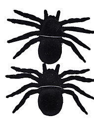 Halloween And Bar Decoration Black Furry Spider Confused the Wacky Toy (Two Pieces)