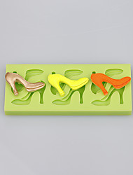 Best China high heels shape silicone cake fondant push mold silicone soap mold Color Random