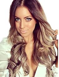 Women Long Body Deep Wave Medium Bang Synthetic Hair Wigs Heat Resistant