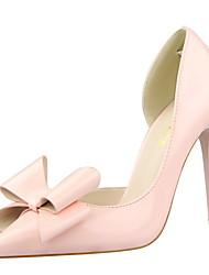 Damen-High Heels-Kleid-Kunstleder-Stöckelabsatz-Absätze / Spitzschuh / Geschlossene Zehe-Schwarz / Rosa / Rot / Weiß / Silber / Grau