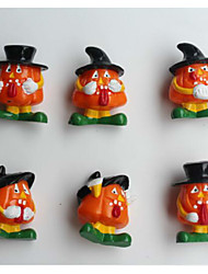 6Pcs Halloween Pumpkin Series Doll Furnishing Articles Gifts Cartoon Character Modelling Random Pattern