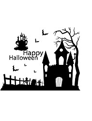 Halloween Stickers/ Decals Halloween Ghoast House Stickers For Home Decor