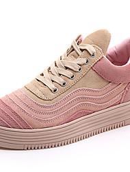 Damen-Sneaker-Lässig Sportlich-Wildleder-Flacher AbsatzRosa Weiß