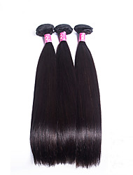 Silk Straight Malaysian Virgin Hair Machine Made Hair Wefts Unprocessed Natural Color Hair Weaves Tangle Free