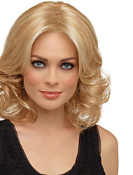 Sexy Blonde Medium Length Heat Resistant Full Hair Wig