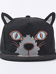 Vintage Casual Unisex Cat Ears Cartoon Animals Canvas Baseball Cap  Flat-brimmed  Hip-hop Hats