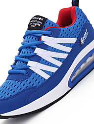 Men's Athletic Shoes Comfort Synthetic Outdoor / Athletic Flat Heel Lace-up Black / Blue / GreenWalking /