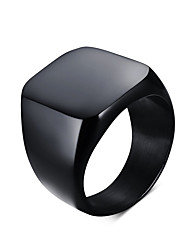 Men's Fashion Simple Style Vintage 316L Titanium Steel Personality Statement Rings Casual/Daily Accessory
