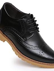 -Для мужчин-Повседневный-Кожа-На плоской подошве-Удобная обувь-Туфли на шнуровке