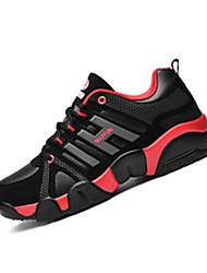 Feminino-Tênis-Conforto-Rasteiro-Preto e Vermelho / Preto e Branco / Azul Real-Microfibra-Para Esporte