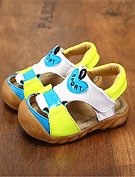 Girl's Sandals Spring / Summer / Fall Sandals PU Outdoor / Casual Flat Heel Bowknot Blue / Brown / White Walking