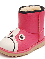 Girl's Boots Fall / Winter Snow Boots / Fashion Boots Leatherette Outdoor / Casual Flat Heel Slip-on  Snow Boots