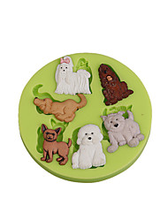 Lovely Animal Multi Dogs Silicone Sugarcraft Mold Fondant Cake Decorating Tools for Chocolate Cupcake Candy Clay Making