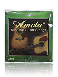 Amola A120 010-047 Pure Copper Acoustic Guitar Strings For Wooden guitar