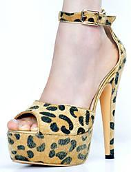 Women's Sandals Summer Heels / Peep Toe / Platform / Sandals Horse Hair Party & Evening / Dress / Casual Stiletto Heel