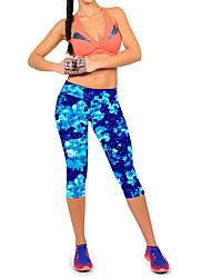 Women's Floral Blue / Red / Black / Yellow / Purple Sweatpants Pants,Street chic / Active