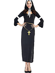 Women's Sexy Nun's Long Dress Cosplay Outfit