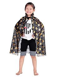 Cloak Wizard/Witch Festival/Holiday Halloween Costumes Red / Golden / Silver / Blue Jacquard Cloak Halloween / Children's Day Kid