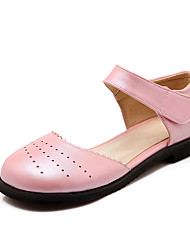 Women's Sandals Spring / Summer / Fall Mary Jane PU Dress / Casual Low Heel Hook & Loop / Flower Pink / White / Gold / Peach Walking