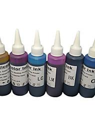 impressoras de 6 cores de tinta (a 6 cores uma cor 1 100ml / meses)