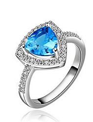 Hot Selling white Gold Plated Sapphire jewelry African Dubai wedding rings for women roxi anel feminino bijoux