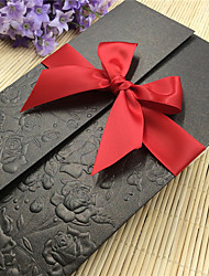 Personalized Gate-Fold Wedding Invitations Invitation Cards-20 Piece/Set Modern Style Embossed Paper Ribbons