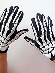 Gants Noir Térylène Accessoires de cosplay Halloween / Carnaval