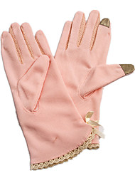 Breathable Sunscreen Ladies' Gloves (Pink)