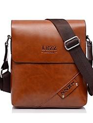 Men PU Office & Career Shoulder Bag Brown / Black / Khaki