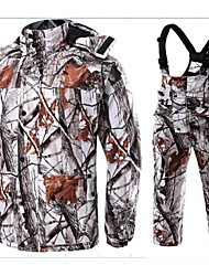 Outdoor Spoorts Winter Cotton Warm Parker Wader Waterproof Camo Snow Hunting Down Coat Clothing Suit Jacket  Suspender Trousers