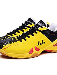 Men's Athletic Shoes Comfort Leather Fall Athletic Badminton Tennis Comfort Lace-up Platform Orange Purple Yellow Flat