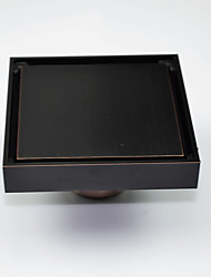"Drain / Oil Rubbed Bronze10CM(4"")*10CM(4"") /Brass /Antique /10CM(4"") 10CM(4"") 0.6"