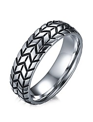 Men's Band Rings Jewelry Halloween/Casual/Party/Daily Fashion Personality Stainless Steel White  1pc Gift