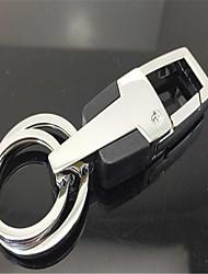 homens 's chaveiro de couro anel chave do carro de metal
