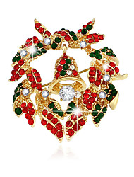 Christmas Jewelry Series of High-grade Bell Garland Brooch Brooch