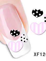 Love Pattern Watermark Nail Sticker