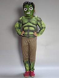 Classic Muscle The Hulk cosplay Child Super Hero Costumes For Halloween Party